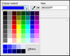 Primary color selection dialog within Colour Contrast Analyser